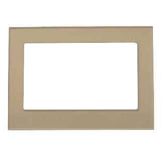 Cafe Latte Solid Color Magnetic Picture Frame