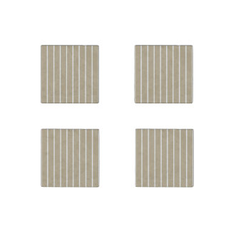 Cafe Latte White Pinstripe Stone Magnet