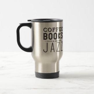 Café, libros y jazz tazas de café