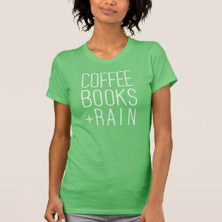 Café, libros y lluvia camiseta
