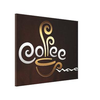 Café Impresión En Lona