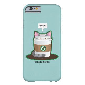 Café lindo del gato funda de iPhone 6 barely there