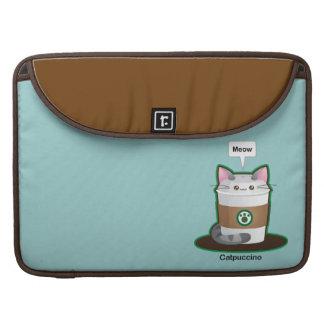 Café lindo del gato funda para macbooks