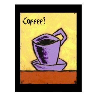 ¿Café?  Llámeme postal