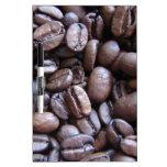 Café loco pizarras blancas de calidad