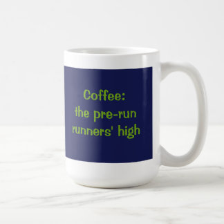 Café: los corredores del pre-run altos taza clásica