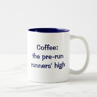 Café: los corredores del pre-run altos taza de dos tonos