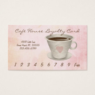 Cafe Loyalty Punch Card