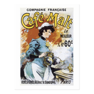Cafe Malt Vintage Ad Postcards