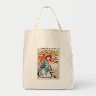 Cafe Malt Vintage Coffee Drink Ad Art Tote Bags