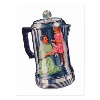 Café Mama del percolador del kitsch retro del Tarjetas Postales