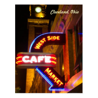 Cafe Market Neon Postcard(Cleveland) Postcard