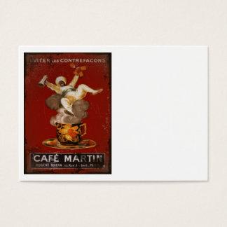 Cafe Martin Coffee Genie Business Card