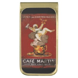 Cafe Martin Coffee Genie Gold Finish Money Clip