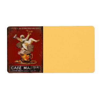 Cafe Martin Genie Label