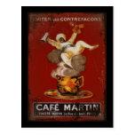 Cafe Martin Genie Post Card