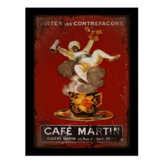 Cafe Martin Genie Postcard