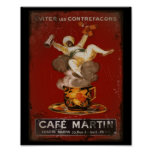 Cafe Martin Genie Poster