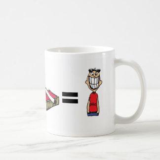 Café más la taza feliz del hombre de los iguales d