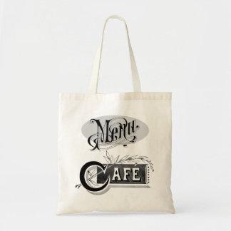 Cafe Menu Typography Restaurant Dining Eat Drink Tote Bag