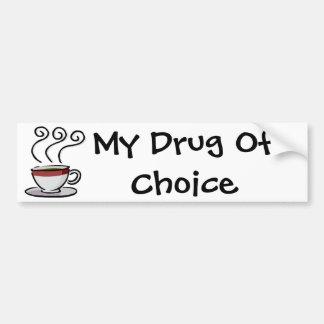 café mi droga de la opción etiqueta de parachoque