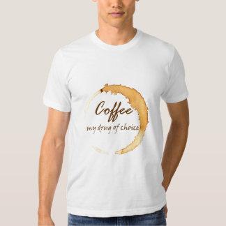 Café - mi droga de la opción remeras
