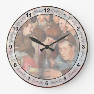 Cafe - Midnight Munchies 1943 Large Clock