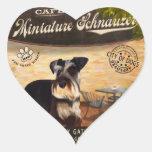 Cafe Miniature Schnauzer Heart Sticker