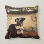 Cafe Miniature Schnauzer Pillow