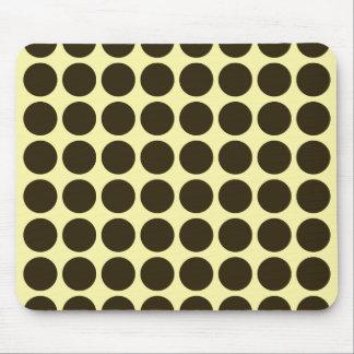 Café Mocha Cream Neutral Dots Mouse Pad