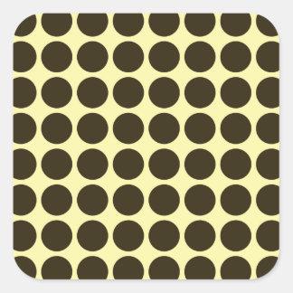 Café Mocha Cream Neutral Dots Square Sticker