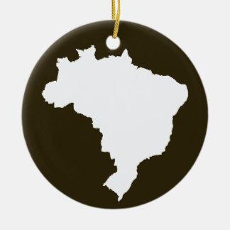 Café Mocha Festive Brazil at Emporio Moffa Ceramic Ornament