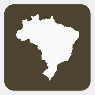 Café Mocha Festive Brazil at Emporio Moffa Square Sticker