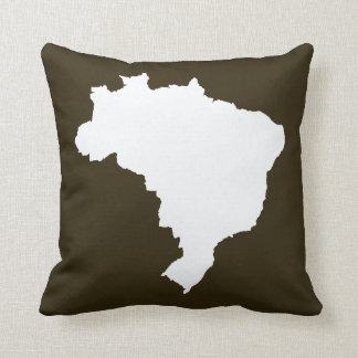 Café Mocha Festive Brazil Pillow