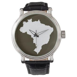 Café Mocha Festive Brazil Wristwatch
