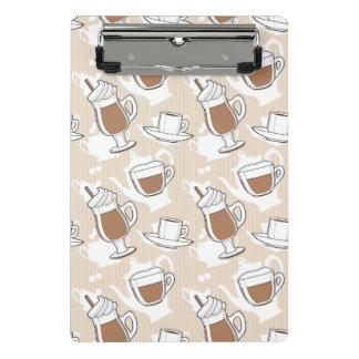 Café, modelo dulce minicarpeta de pinza