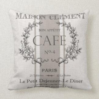 café moderno del francés del vintage cojines