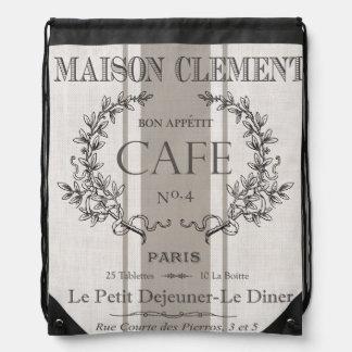 café moderno del francés del vintage mochilas
