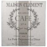café moderno del francés del vintage servilletas de papel