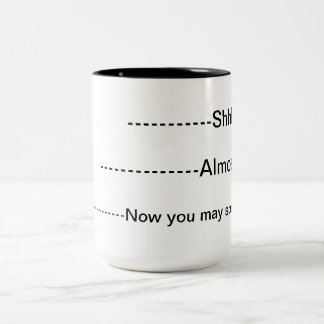Café Mug.Do no hablarme Taza Dos Tonos