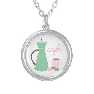 Cafe Round Pendant Necklace
