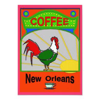 "Café New Orleans Invitación 5"" X 7"""