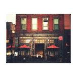 Café - New York City Lienzo Envuelto Para Galerias