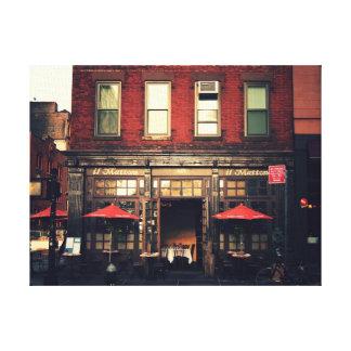 Café - New York City Lona Envuelta Para Galerias