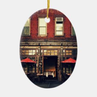 Cafe - New York City Christmas Tree Ornament