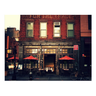 Cafe - New York City Postcard