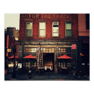 Cafe - New York City Print