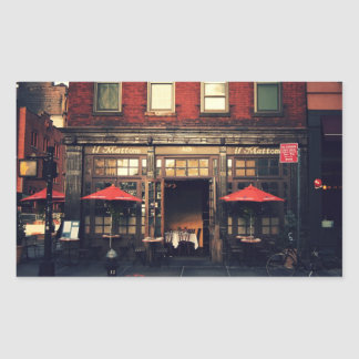 Cafe - New York City Rectangular Sticker