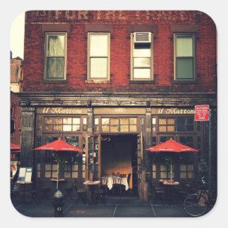 Cafe - New York City Square Sticker