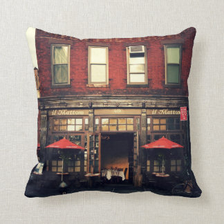 Cafe - New York City Throw Pillow